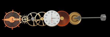 Mechanism of wrist watch Stock Photo