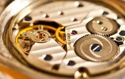 Mechanisme van een horloge, detail Stock Afbeelding