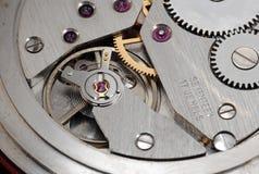 Mechanisme van oud horloge Royalty-vrije Stock Foto's