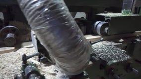 Mechanisme voor het houten machinaal bewerken stock video