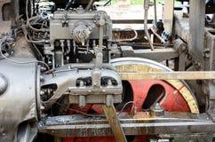 Mechanismen van een locomotief in een smeermiddel royalty-vrije stock foto's
