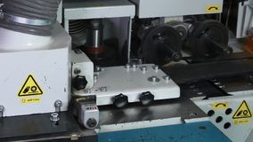 Mechanisms and details of CNC wood machine.