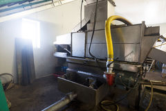 Mechanisms for olive oil processing Stock Image