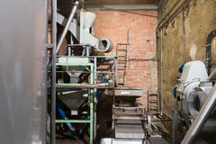 Mechanisms for olive oil processing Royalty Free Stock Photo