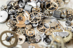 Mechanisms of watches Royalty Free Stock Photo