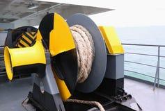 Mechanismus an der Fährenplattform Stockfotos