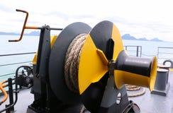 Mechanismus an der Fährenplattform Stockbilder