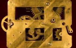 Mechanismus des alten Weckers Stockbild