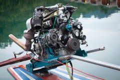 Mechanismus des Außenbordmotors Stockbilder