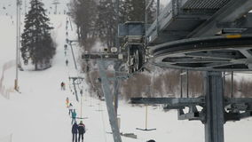 Mechanismus des Skiaufzugs stock footage