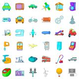 Mechanistic icons set, cartoon style. Mechanistic icons set. Cartoon set of 36 mechanistic vector icons for web isolated on white background Royalty Free Stock Photos