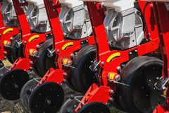 Mechanized machinery equipment for agriculture industry Stock Photography