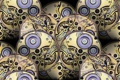 mechanizmów abstrakcjonistyczni antykwarscy watchworks Fotografia Stock