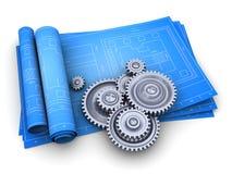 mechanizmów projekty ilustracja wektor