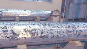 Mechanizm druk na tapecie Nowo?ytna drukowa prasa dla tapety zbiory wideo