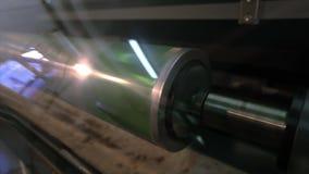 Mechanizm druk na tapecie Nowo?ytna drukowa prasa dla tapety zdjęcie wideo