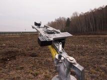 Mechanizm wywołuje celów talerze dla strzelać Zdjęcie Royalty Free