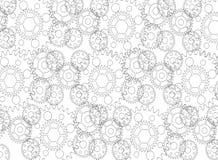 Mechanizmu architekta tła abstrakcjonistyczny projekt - odosobniony Zdjęcia Royalty Free