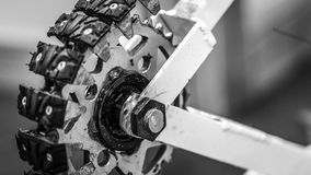 Mechanizmu koła robota Samochodowy silnik fotografia royalty free