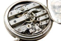 mechanizmu stary kieszeni srebra zegarek Zdjęcia Royalty Free
