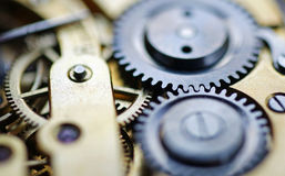 mechanizmu zegarek obrazy stock