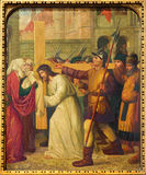 Mechelen - Ιησούς και Βερόνικα. Μέρος ο διαγώνιος κύκλος τρόπων από. το σεντ 19. στην εκκλησία onze-Lieve-Vrouw ν-Hanswijkbasiliek Στοκ φωτογραφίες με δικαίωμα ελεύθερης χρήσης