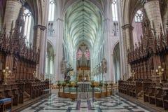 Mechelen - ступица собора St. Rumbold от пресвитерия стоковое фото