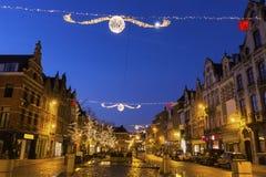 Mechelen in Belgium during Christmas Stock Photos