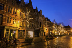 Mechelen in Belgium during Christmas Stock Image
