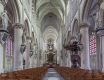 Mechelen - The church Our Lady across de Dyle. Royalty Free Stock Images