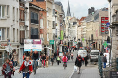 Mechelen city center Royalty Free Stock Photo