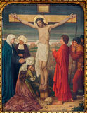 Mechelen - Crucifixion as part the Cross way cycle from 19. cent. in Onze-Lieve-Vrouw-va n-Hanswijkbasiliek church Royalty Free Stock Photo