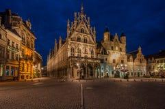 Mechelen, Grote Markt Stock Foto's