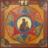Mechelen - icône de mère de Dieu d'église de St Katharine ou de Katharinakerk par Johanne van der Put Image libre de droits