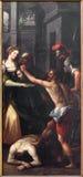 Mechelen - la degollación de San Juan Bautista en iglesia nuestra señora a través de Dyle Fotos de archivo