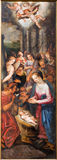 Mechelen - Nativity - triptych Resurrection of Christ by J. Snellinckx (1544 - 1588) in St. Rumbold's cathedral Royalty Free Stock Photography