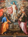 Mechelen - pintura da ressurreição de Cristo por J. Snellinckx (1544 - 1588) na catedral do St. Rumbold fotografia de stock royalty free