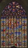 Mechelen - Scenoe жизни Иисуса от специализированной части окна собора St. Rumbold стоковые изображения rf