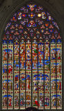 Mechelen - Scenoe of Jesus life from windowpane of St. Rumbold's cathedral Royalty Free Stock Images
