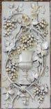 Mechelen - soulagement découpé du chapeau comme symbole de l'eucharistie et du sang de Jesus Christ dans l'église notre Madame à  Photographie stock