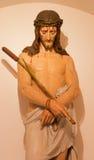 Mechelen - Statue of Jesus in the bond in Onze-Lieve-Vrouw-va n-Hanswijkbasiliek church Royalty Free Stock Photos