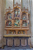 Mechelene - Nev gothic side altar of church Our Lady across de Dyle. Royalty Free Stock Image