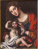 Mechelne - The Madonna of slaves by unknown painter (1620 - 1630)  in st. Johns church or Janskerk. Stock Photography