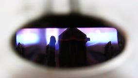 Mechero de gas almacen de metraje de vídeo