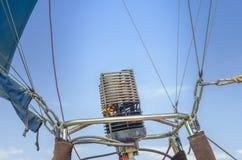 Mechero de gas del globo del aire caliente Fotografía de archivo