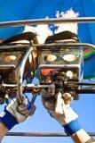 Mechero de gas para el baloon fotografía de archivo libre de regalías