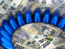 Mechero del dinero y de gas Imagenes de archivo