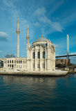 Mecidiye Mosque in famous Ortakoy Royalty Free Stock Images