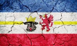 Mecklenburg-Vorpommern, state of Germany, flag Royalty Free Stock Images