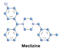 Meclizine is an antihistamine Stock Images